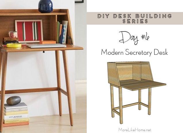 more like home diy desk series 6 modern secretary desk. Black Bedroom Furniture Sets. Home Design Ideas