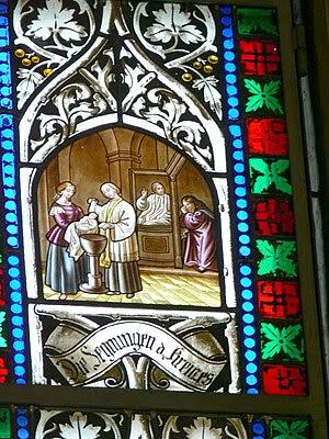 Pötting - parish church of the Holy Cross: Sta...