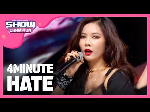 ✰VIDEO✰ 4 Minute z ''Hate'' na Music Show Champion