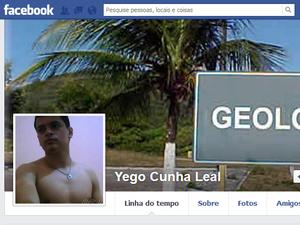 Yego Cunha Leal, estudante de geologia, desapareceu no domingo (25), em Babaçulândia, TO (Foto: Reprodução/Facebook)