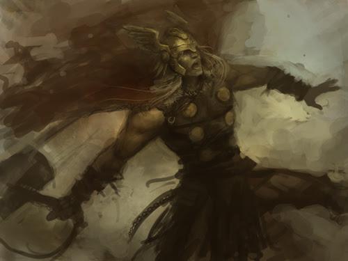Thor digital painting step by step