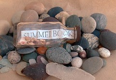 summer books in a bottle