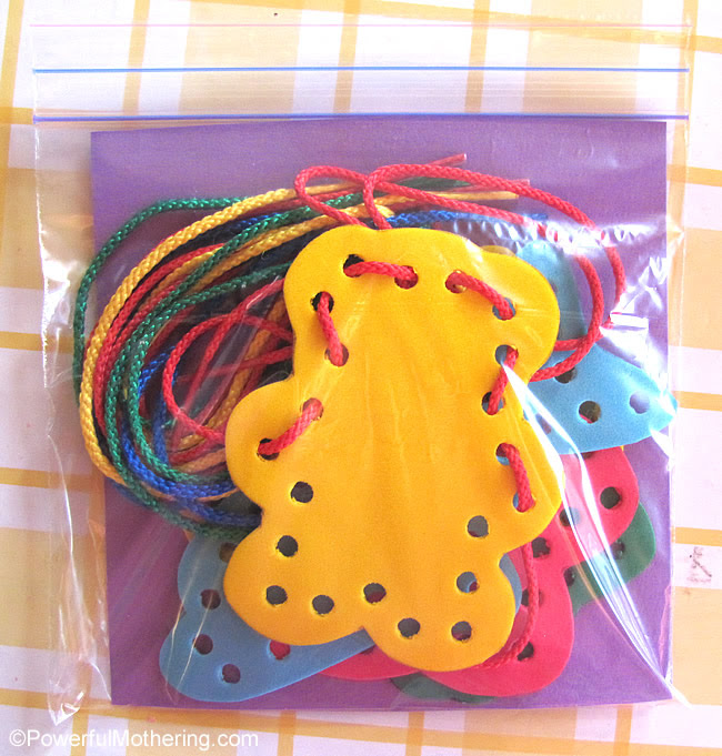 foam lacing gift or busy bag