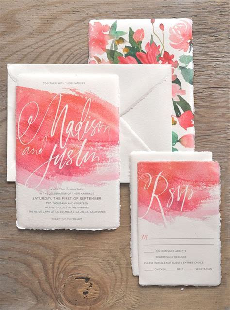 17 Best ideas about Watercolor Invitations on Pinterest