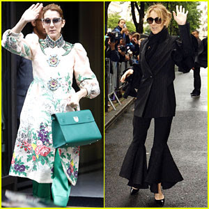 Celine Dion Is a Floral Goddess In Paris