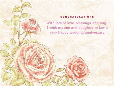 Anniversary Wishes For Son and Daughter in Law   Happy Wishes