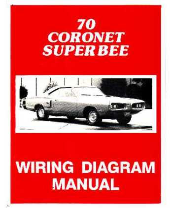 1970 Dodge Coronet Super Bee Wiring Diagrams