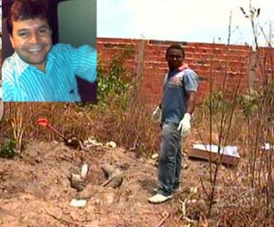 O corpo de Marggion Andrade foi enterrado numa cova rasa
