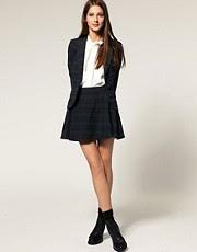 ASOS Tartan Flippy Skirt With Pockets