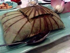 Rice steamed in lotus leaf