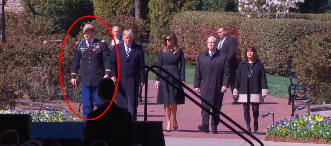 Trump Escorted By Bi