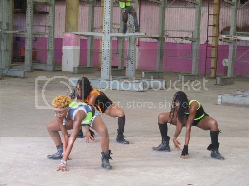 Cherine and two female dancers excite with an energetic dance routine.