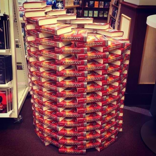 An ALLEGIANT masterpiece in the Chapters Oakville bookstore, built by caitlinbell8 on Instagram!