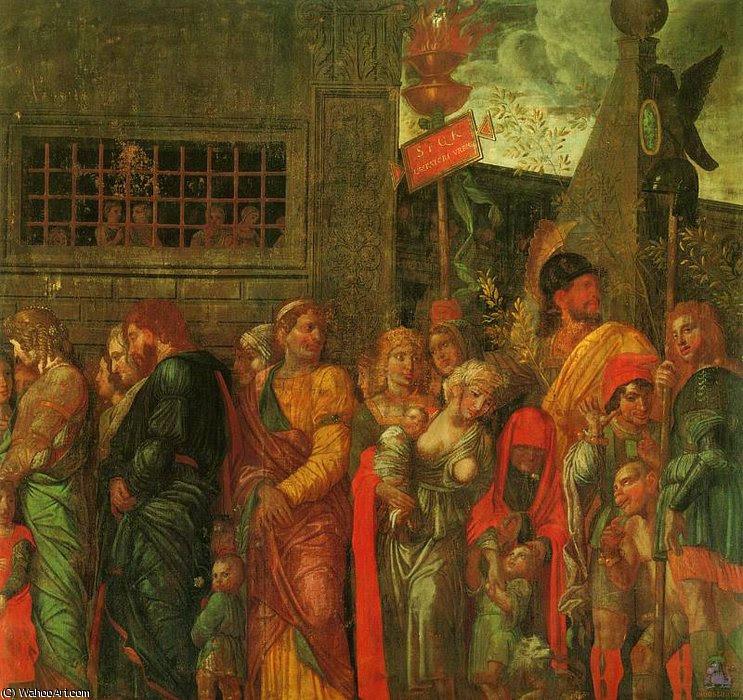 Triunfos de César (escena 7) - (1.500), 1500 de Andrea Mantegna (1431-1506, Italy)