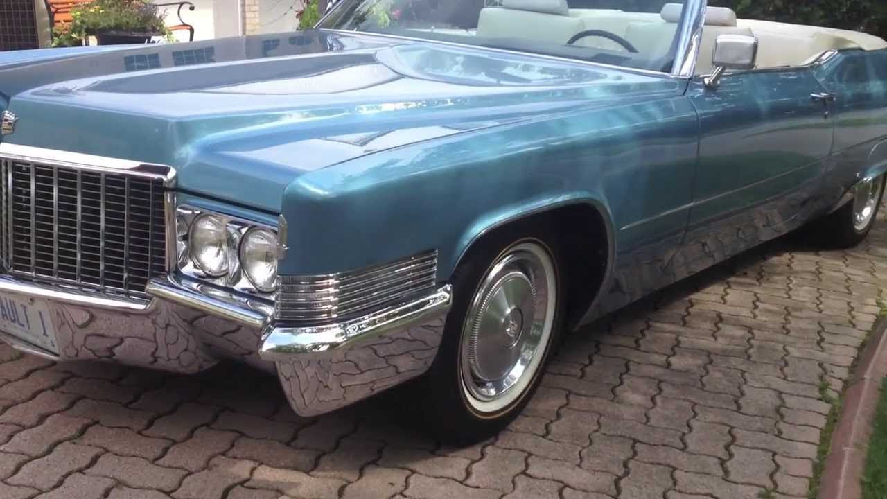 1970 Cadillac Coupe DeVille convertible - YouTube