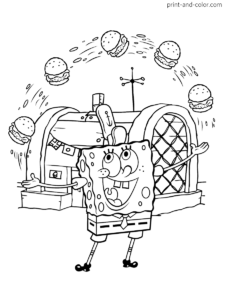 spongebob squarepants coloring pages  print and color