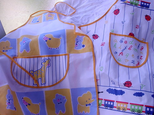 My little girls's aprons