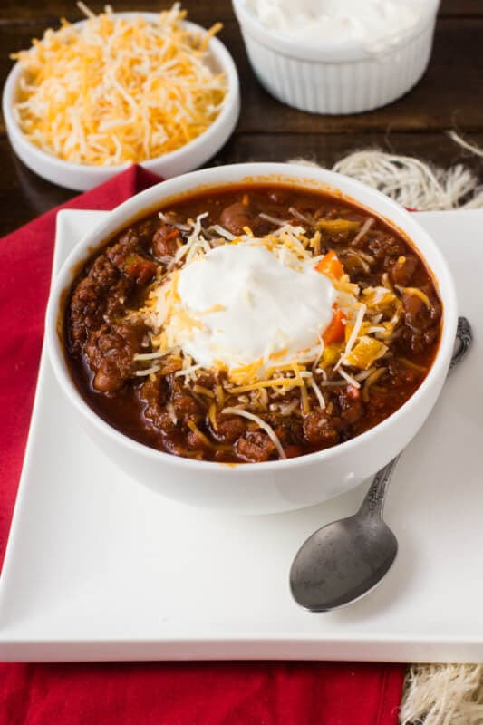 Dr. Pepper and Chocolate Chili | Oh, Sweet Basil