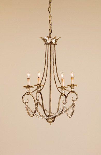 Four Light Chandelier | Bedroom Lighting | Pinterest