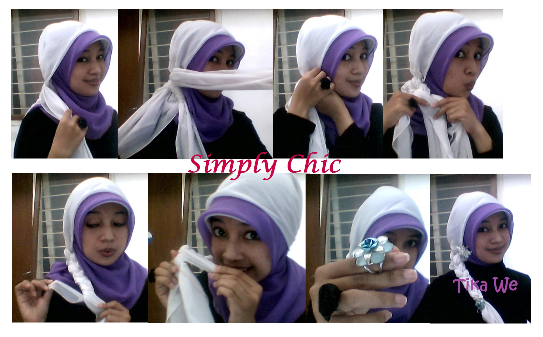 gambar tutorial hijab anak sd | tutorial hijab