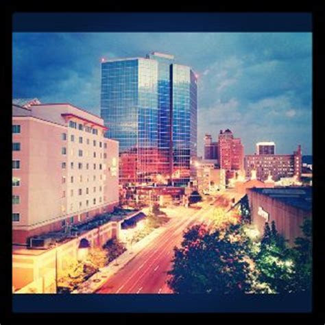Downtown Charleston, WV. My wedding gown was purchased in