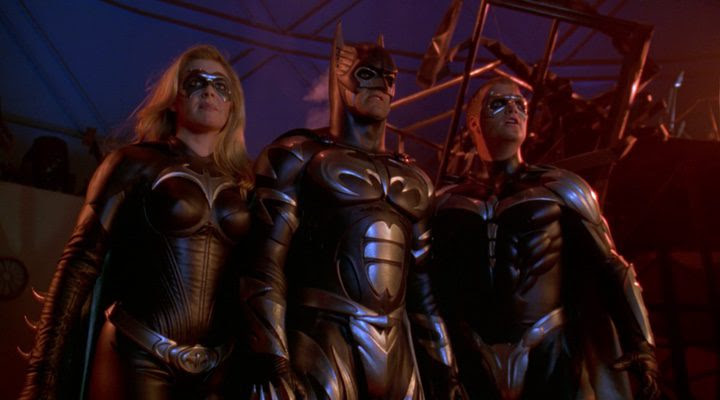 George Clonney, Chris O'Donnell y Alicia Silverstone en 'Batman & Robin'