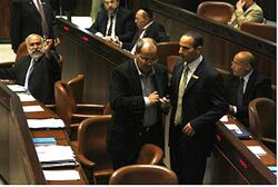 Arab MK Tibi ejected from plenum (file)