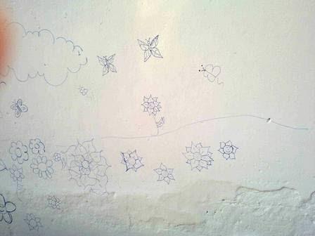 Desenhos feitos por alunos.