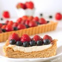 whole grain cookie tart has a creamy Greek yogurt Greek Yogurt Berry Cookie Tart (100% whole grain)