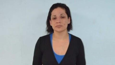 I FENGSEL: Melissa «La China» Calderon etter å ha sittet arrestert en stund. FOTO: PGJE
