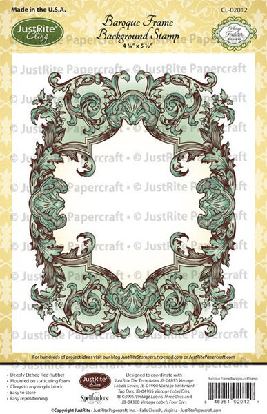 Baroque Frame Cling Background Stamp
