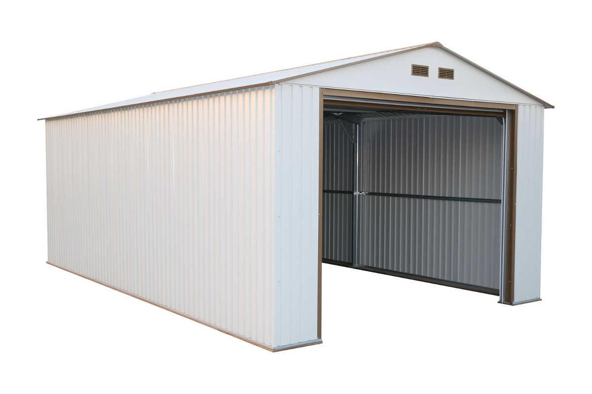 DuraMax 12X20 Metal Garage with Roll Up Door (Off White) [50931