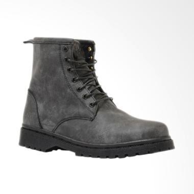 NOKHA Rider Sepatu Boots Wanita - Dark Grey Black 6afd095b67