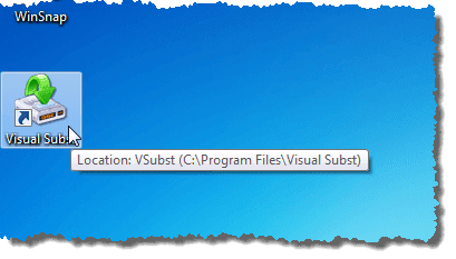 Visual Subst icon on desktop