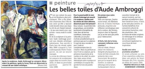 Aude Ambroggi : artiste peintre et sculpteur