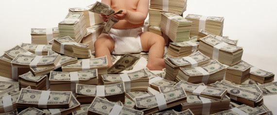 BABY WITH MONEY