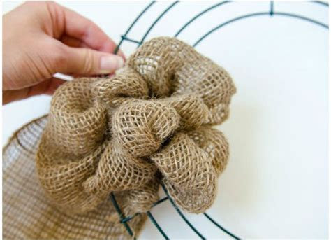 How to Make A Burlap Wreath DIY Projects Craft Ideas & How