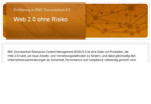 Emc documentum 6.5 web2.0-ohne-Risiko