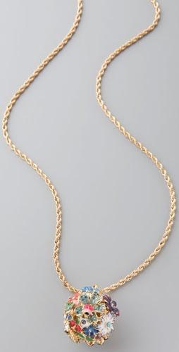 Kenneth Jay Lane Garden Flower Necklace