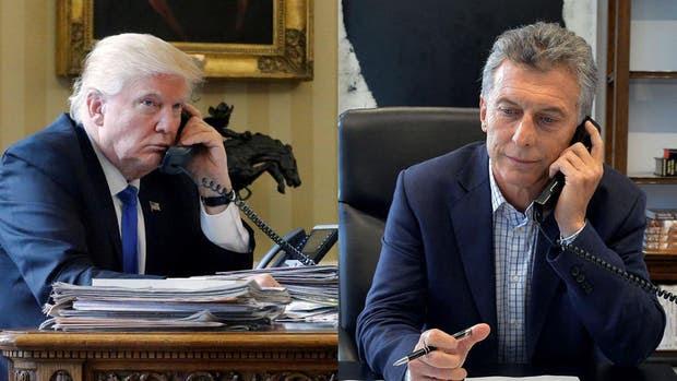 El presidente estadounidense, Donald Trump y el presidente argentino, Mauricio Macri