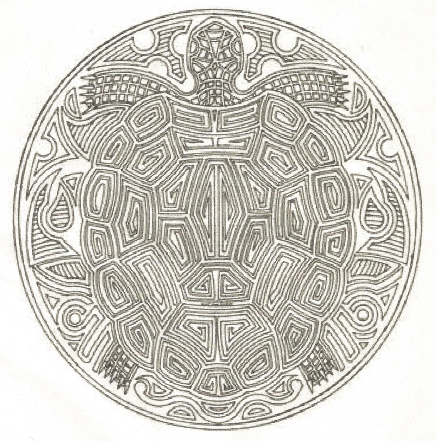 pour Turtle mandala des 3 tortues et princesse des tortues