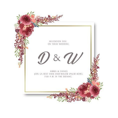 Watercolor florals with text frame border, lush flowers