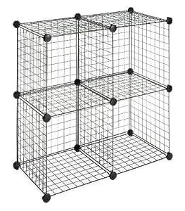 Amazon.com - Whitmor 6070-1723 4 Storage Cubes, Black - Closet Shelves
