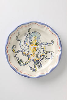 De Vincennes Dinner Plate, Octopus