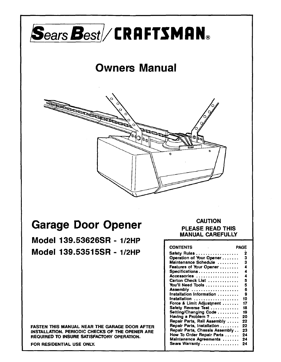 B6baca4 Craftsman Garage Door Opener Installation Manual Wiring Library