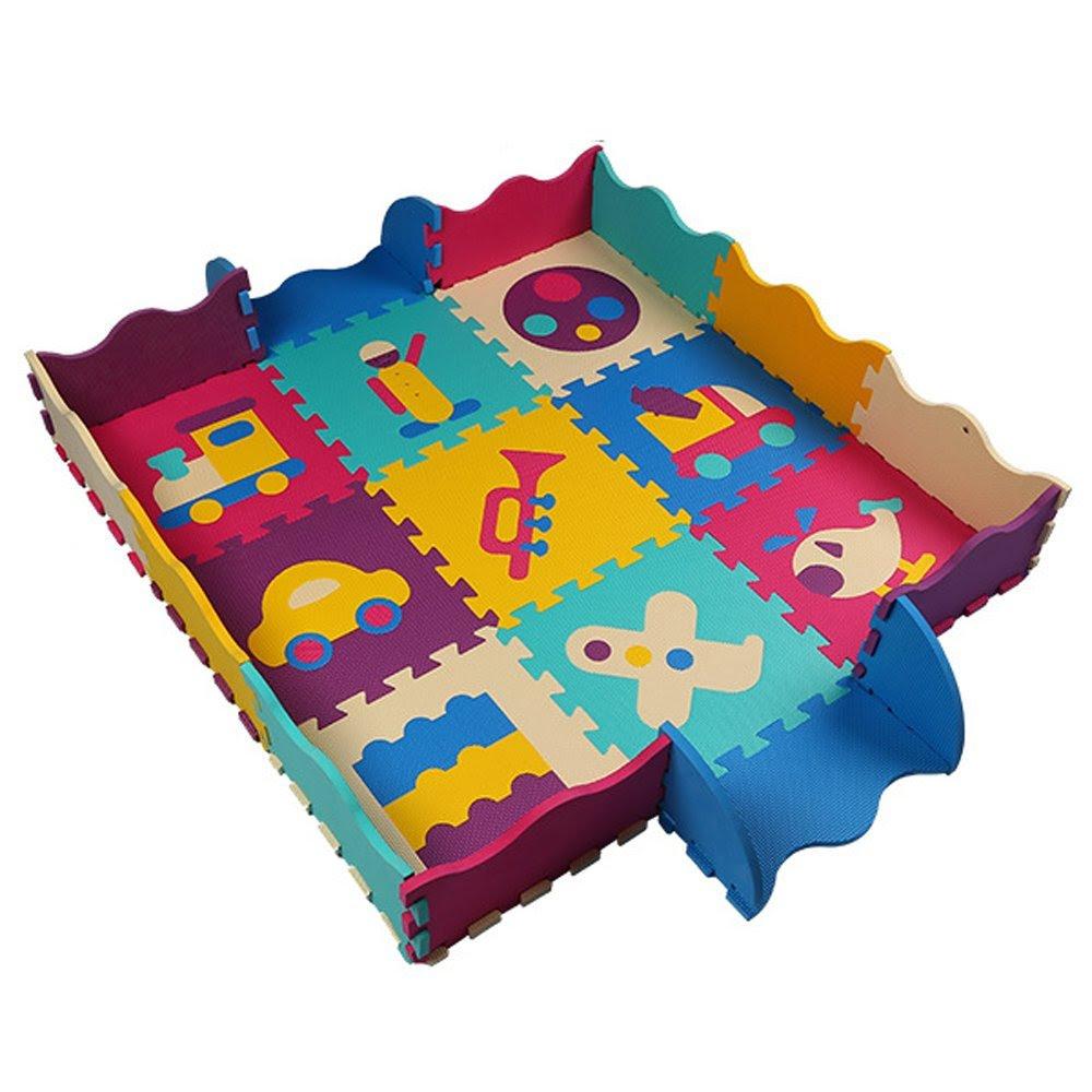 Original alfombra de juegos infantil en puzzle con valla ...
