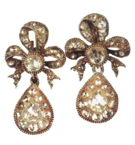 The Art Of Jewelry In The Ottoman Court, Gold And Diamond Earings, Topkapi Museum