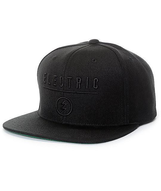 Electric Identity Corp Black Snapback Hat