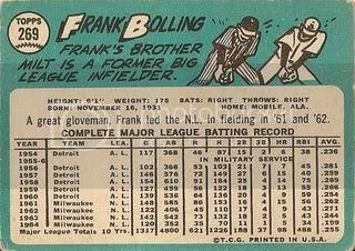 #269 Frank Bolling (back)