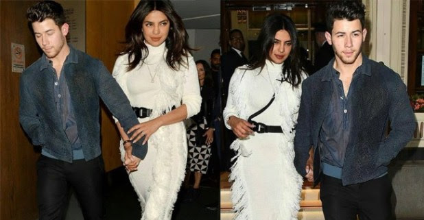 PeeCee's super special date night with Nick Jonas in London; looks pretty in white